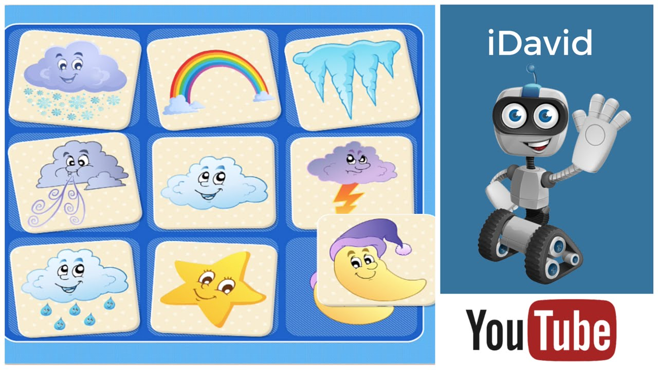 Weather for Kids / Weather Vocabulary in English by 22 Learn - YouTube