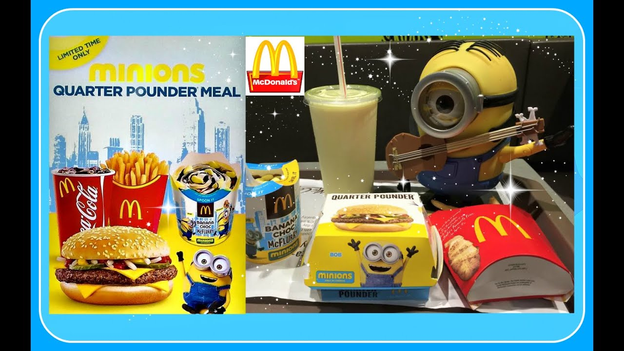 2015 Minions Movie McDonalds Value Meal - YouTube
