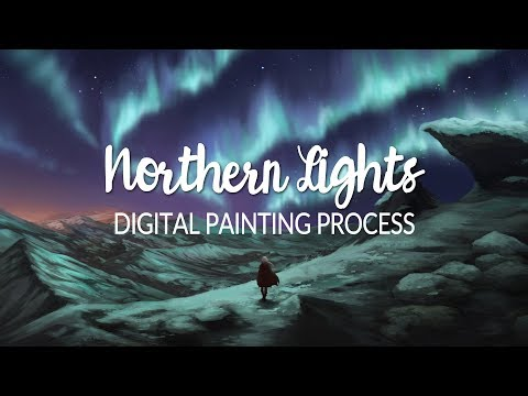Northern Lights - Digital Painting Process