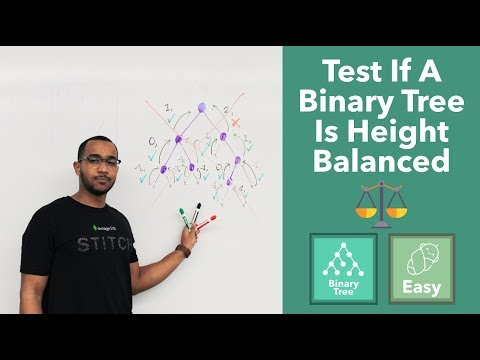 Test If A Binary Tree Is Height Balanced (