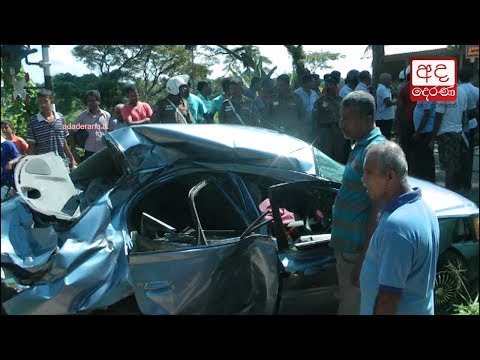 Three killed and one injured in car-train accident in Veyangoda