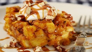Pumpkin Bread Pudding Recipe Demonstration - Joyofbaking.com