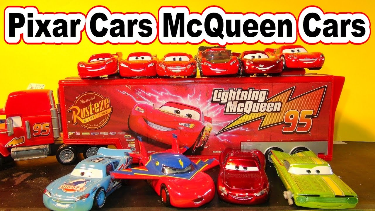 pixar cars many different lightning mcqueen cars by top youtube channel for kids