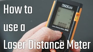 How to use a Laser Distance/Range Measure - distance/area/volume/pythagorus (TACKLife review)