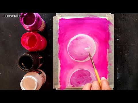 Easy Canvas Painting Ideas for Beginners Step by Step Acrylic Painting #313