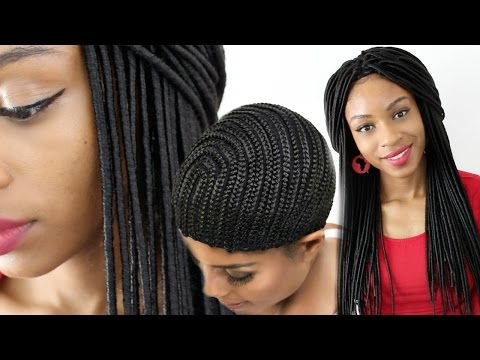 Faux Locs Crochet Braids Wig using a Cornrow Cap