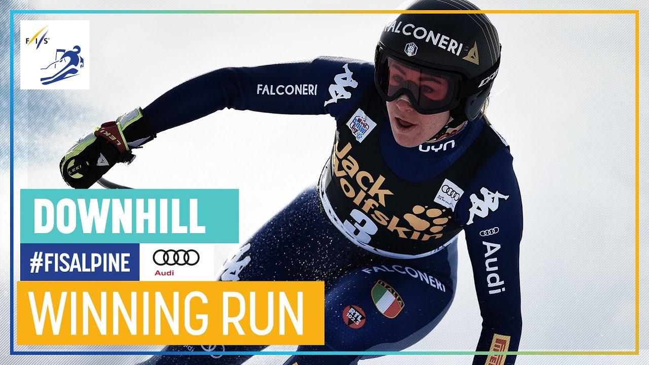 Sofia Goggia Takes Victory in Val d'Isère's Downhill