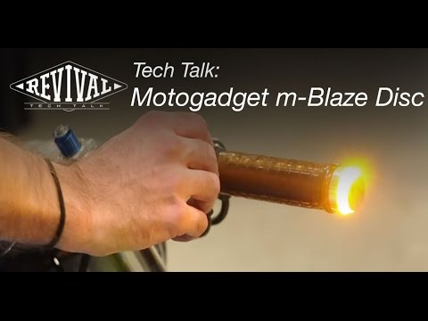 Motogadget m-Blaze Disc Turn Signals - Revival Cycles Tech Talk