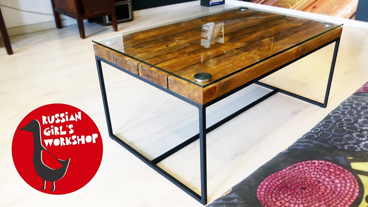 How To Build A Simple Coffee Table YouTube - Build a simple coffee table