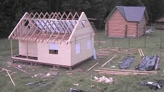 видео Технология строительства каркасного дома