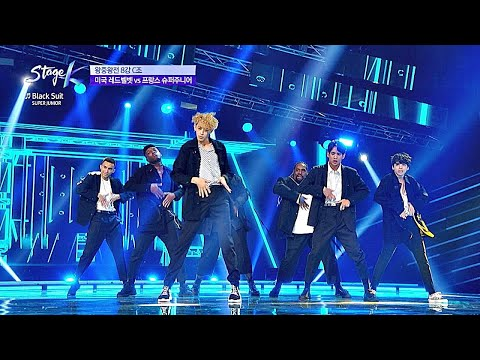 멋짐이란 게 폭발한다★ ′프랑스 슈퍼주니어Super Junior′의 #BlackSuit♬ 스테이지 KSTAGE K 10회