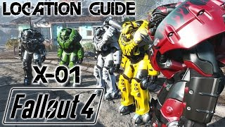 FALLOUT 4 ULTIMATE GUIDE - ALL 8 X-01 Power Armor LOCATIONS - Alle 8 X-01 Powerrüstung Fundorte!