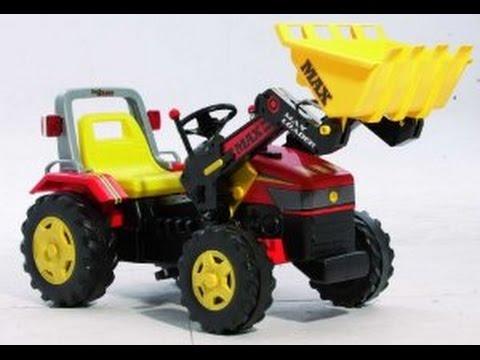 Tracteur avec chargeur frontal tracteurs p dales jouets youtube - Tracteur avec fourche ...