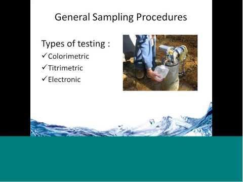 Webinar -- Water Quality Sampling And Analysis
