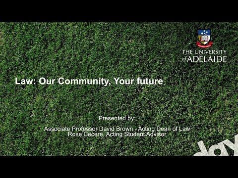 Law Talk - Open Day 2014 - The University of Adelaide