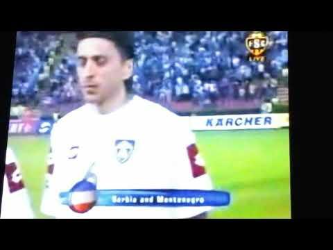 anthem serbia and montenegro vs belgium 2005 hej sloveni