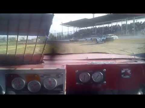 IMCA stock car In Car from Dawson County Raceway 5-25-2014