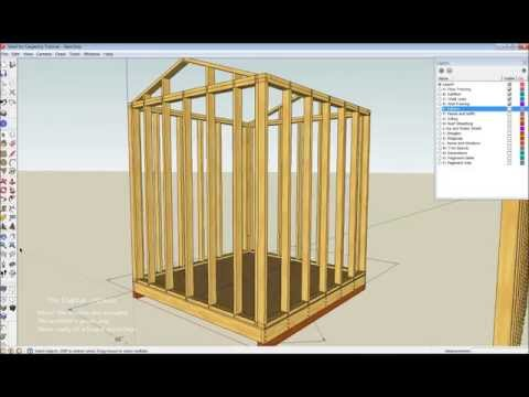 Shed Wall Layout and Framing Basics Part One
