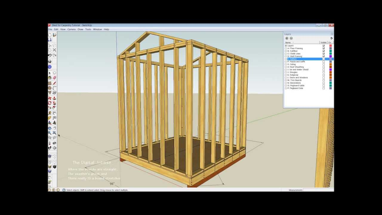 Shed wall layout and framing basics part one youtube for Picture wall layout