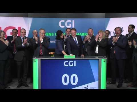 CGI opens Toronto Stock Echange, December  20, 2016