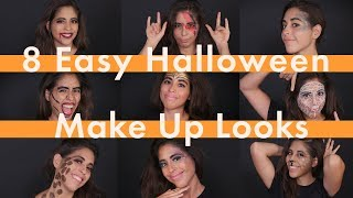 Fast and Lazy Halloween Makeup Looks 🎃| Cosmopolitan