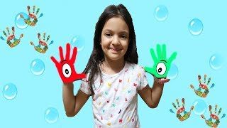 Learn Colors For Children Body Paint Finger Family Song  Learning Video - fun kids