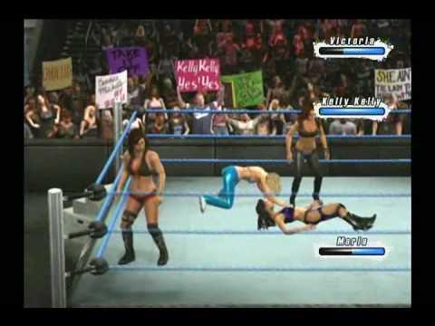 3 on 1 - ladies match [WWE: Smackdown vs. Raw]