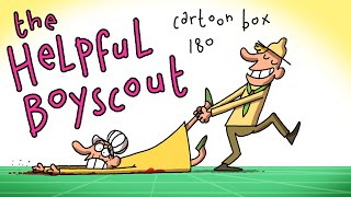 The Helpful Boyscout | Cartoon Box 180 | by FRAME ORDER | Funny elderly cartoon