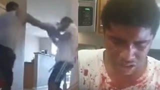 Dad Films Himself Punching His Son Bloody to