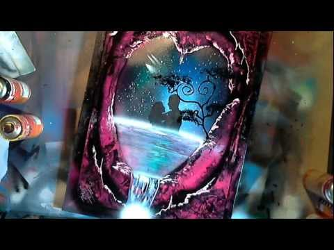 spray paint art by ren schell visit if you want. Black Bedroom Furniture Sets. Home Design Ideas