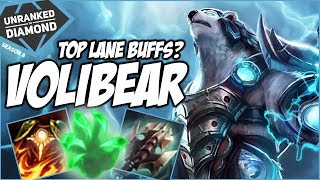 VOLIBEAR TOP GOT BUFFED, IS HE GOOD? - Unranked to Diamond - Ep. 38   League of Legends