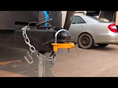 RV Traveler's Choice Universal Trailer Coupler Lock