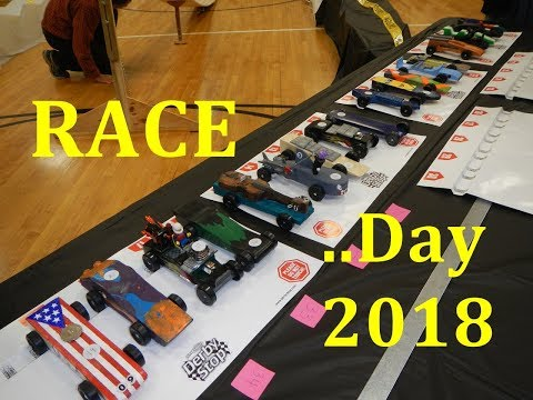 Pinewood Derby Race Day 2018 - Cubscout Eric