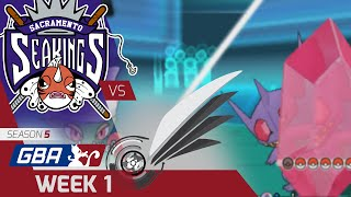 GBA Week 1 | Sacramento Seakings vs. Detroit Steel Wings