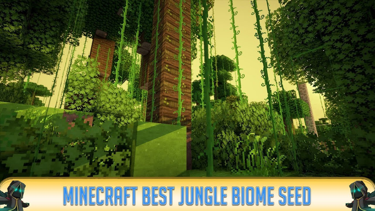 Minecraft Epic Jungle Biome At Spawn Seed Youtube