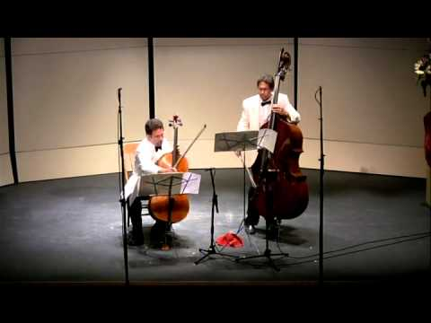 Rossini Duet for Cello and Bass, 1st movement - CVCMF 2010 - YouTube