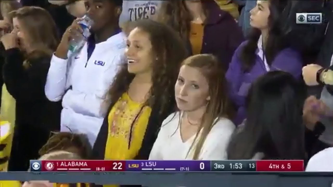 Meet Kaileigh Thomas Sad Girl From The Lsu Vs Alabama Football Game Youtube