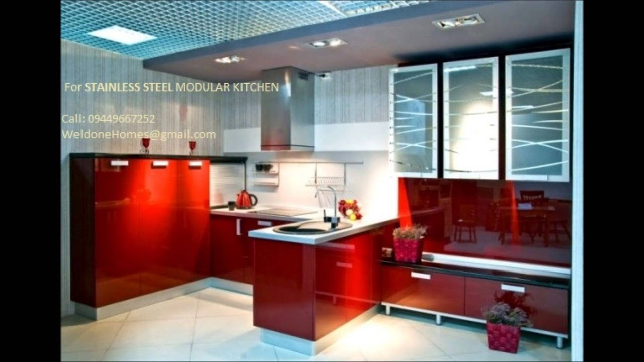 Low Cost Aluminium Modular Kitchen 9400490326 Call Thrissur Ernakulam Kozhikode Steel Finish