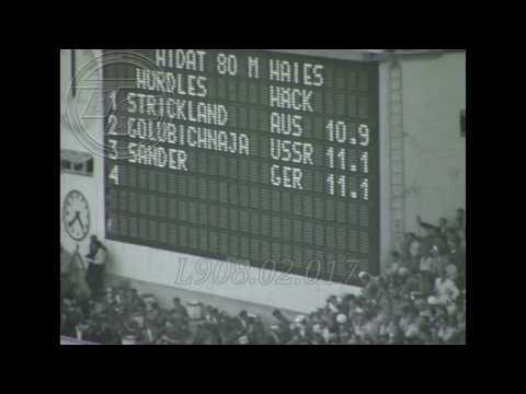 HELSINKI 1952 [SHIRLEY STRICKLAND] 80m Hurdles AMATEUR  FOOTAGE
