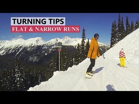 How to Turn on Flat & Narrow Runs - Beginner Snowboard Tips
