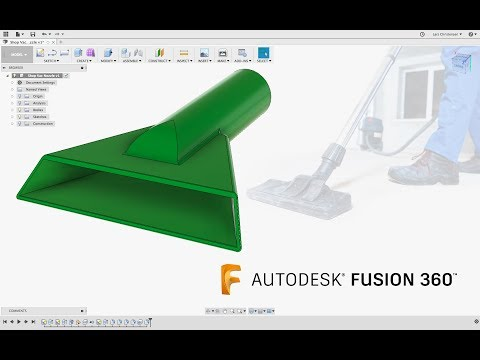 Fusion 360 Absolute Beginner - How To Model a Shop Vac Nozzle - Last Nights Facebook Livestream