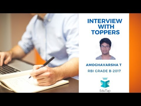 Interview with toppers of RBI Grade B 2017- Mr. Amoghavarsha T H