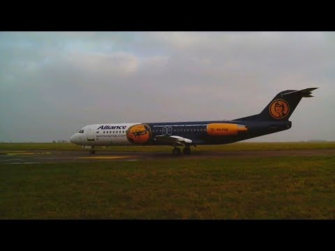 "Alliance Airlines Fokker 100 - ""1st Trans Pacific Flight"" 