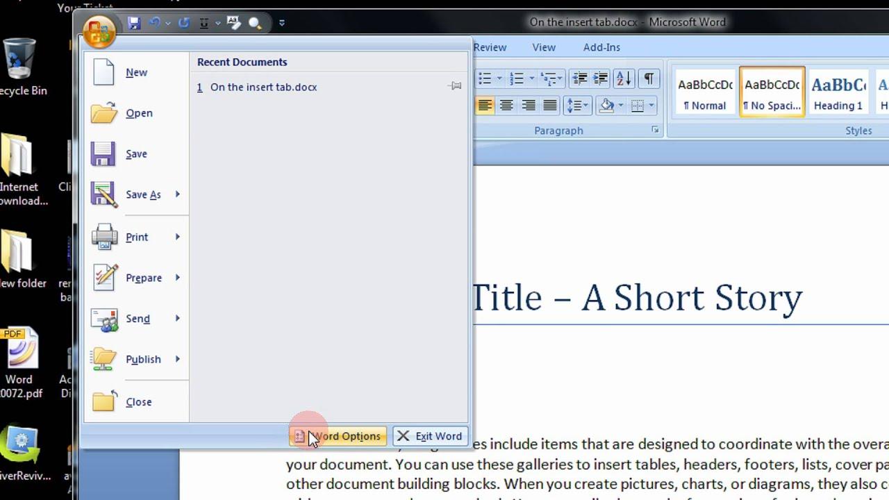 Word 2007 версия онлайн русская