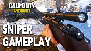 SNIPING GAMEPLAY - Call of Duty WW2 Multiplayer Gameplay! WWII SNIPER Gameplay!