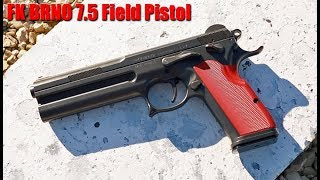 FK BRNO 7.5 mm Field Pistol Quick Recoil Demo