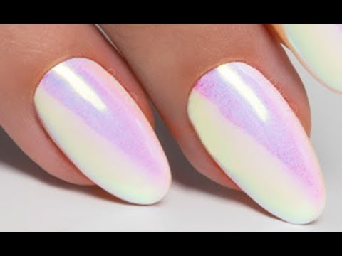 Mirror Unicorn Powder Step By Step Nails 21 Youtube
