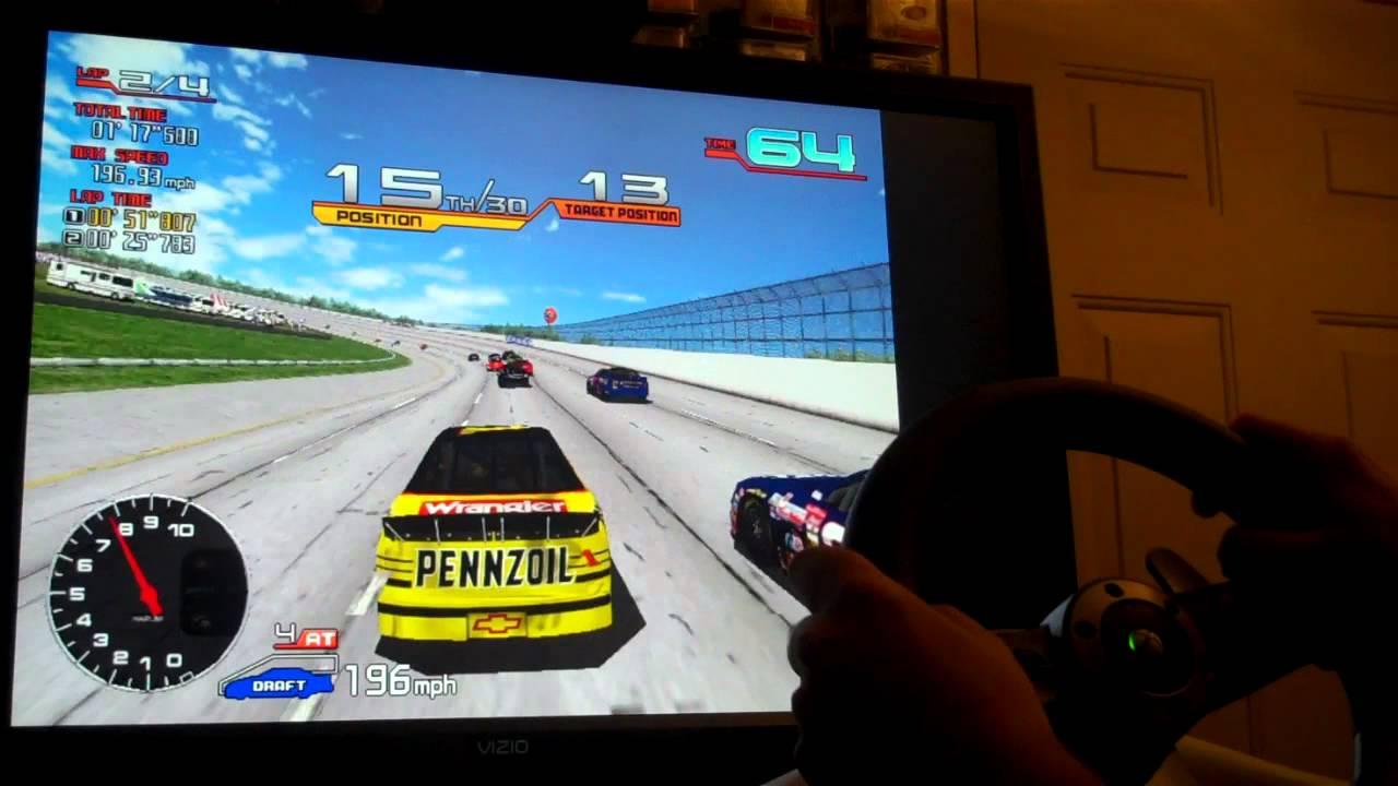 Sega NASCAR Arcade with 270 Degree Wheel on Demul by DarthMarino