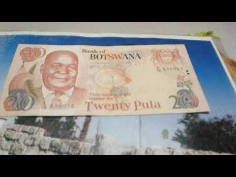 Bank of Botswana twenty  pula currency