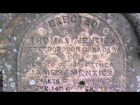 James Menzies Gravestone Comrie Perthshire Scotland